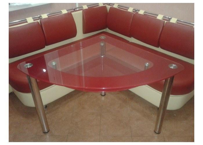 Стеклянные столы для кухни на заказ mk161.ru.